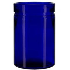26oz verona glass container cobalt blue - case of 12