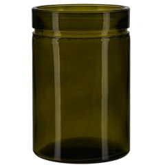 26oz verona glass container vintage green - case of 12