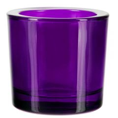 2.5oz heavy glass votive violet