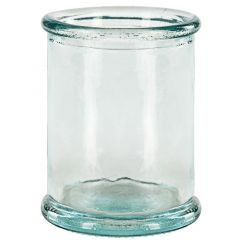 4.4oz round candle recycled glass container - case of 12