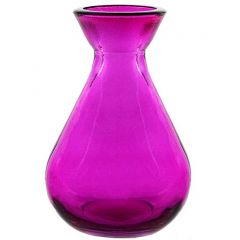 5.1oz teardrop recycled glass bottle fuchsia no cork - case of 24