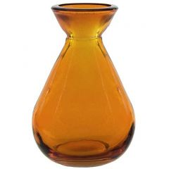 5.1oz teardrop recycled glass bottle orange no cork - case of 24