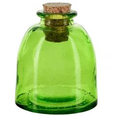 5.1oz ottoman recycled glass bottle lime with cork - case of 24