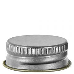 screw cap 24-400 silver lacquer finish with with F-217 - case of 48