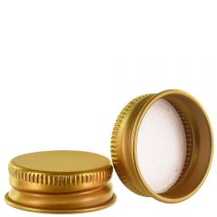 screw cap 28-400 aluminum gold with PE liner