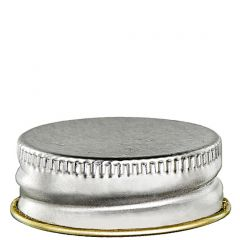 screw cap 28-400 silver lacquer finish with plastisol - case of 48