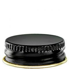 screw cap 28-400 black finish with plastisol - case of 48