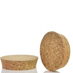 "agglomerate tapered cork 5""  Top diam,  4 13/16""  Bottom diam, 1"" height - case of 12"