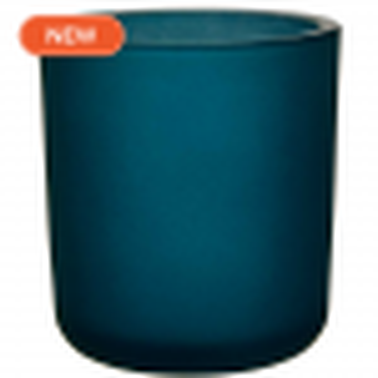 8.5oz heavy glass votive antique frosted oxford blue