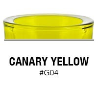 Canary Yellow custom color glass candle container | Glassnow