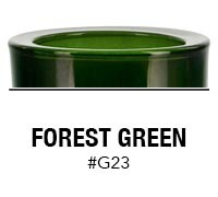 Forest Green custom color glass candle container | Glassnow