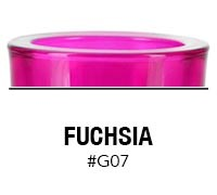 Fuchsia custom color glass candle container | Glassnow