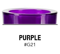 Purple custom color glass candle container | Glassnow