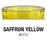 Saffron Yellow custom color glass candle container | Glassnow