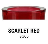 Scarlet Red custom color glass candle container | Glassnow